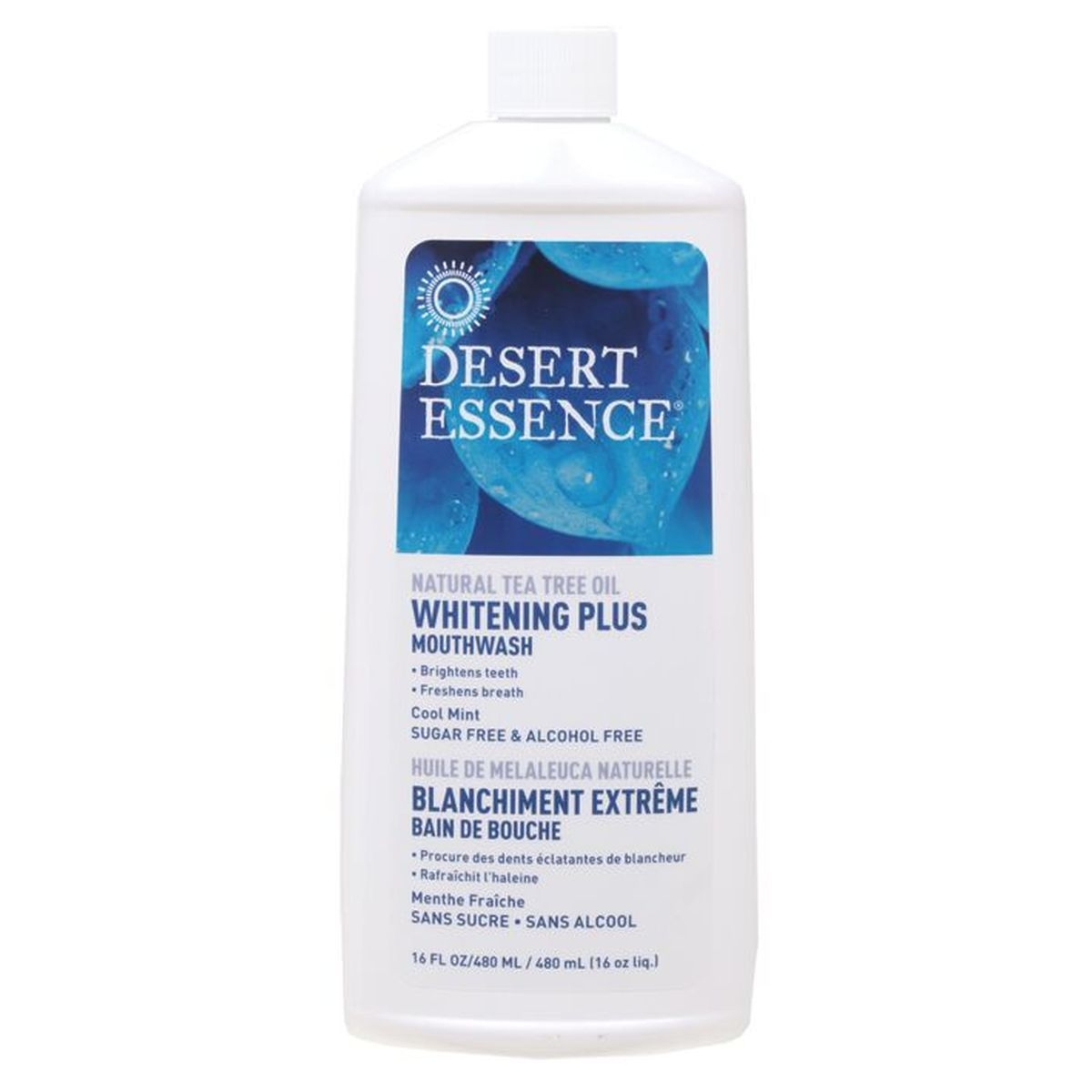 DESERT ESSENCE NATURAL WHITENING PLUS MOUTHWASH – COOL MINT