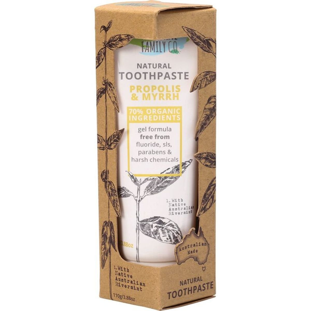 The Natural Family Co Propolis and Myrrh Toothpaste