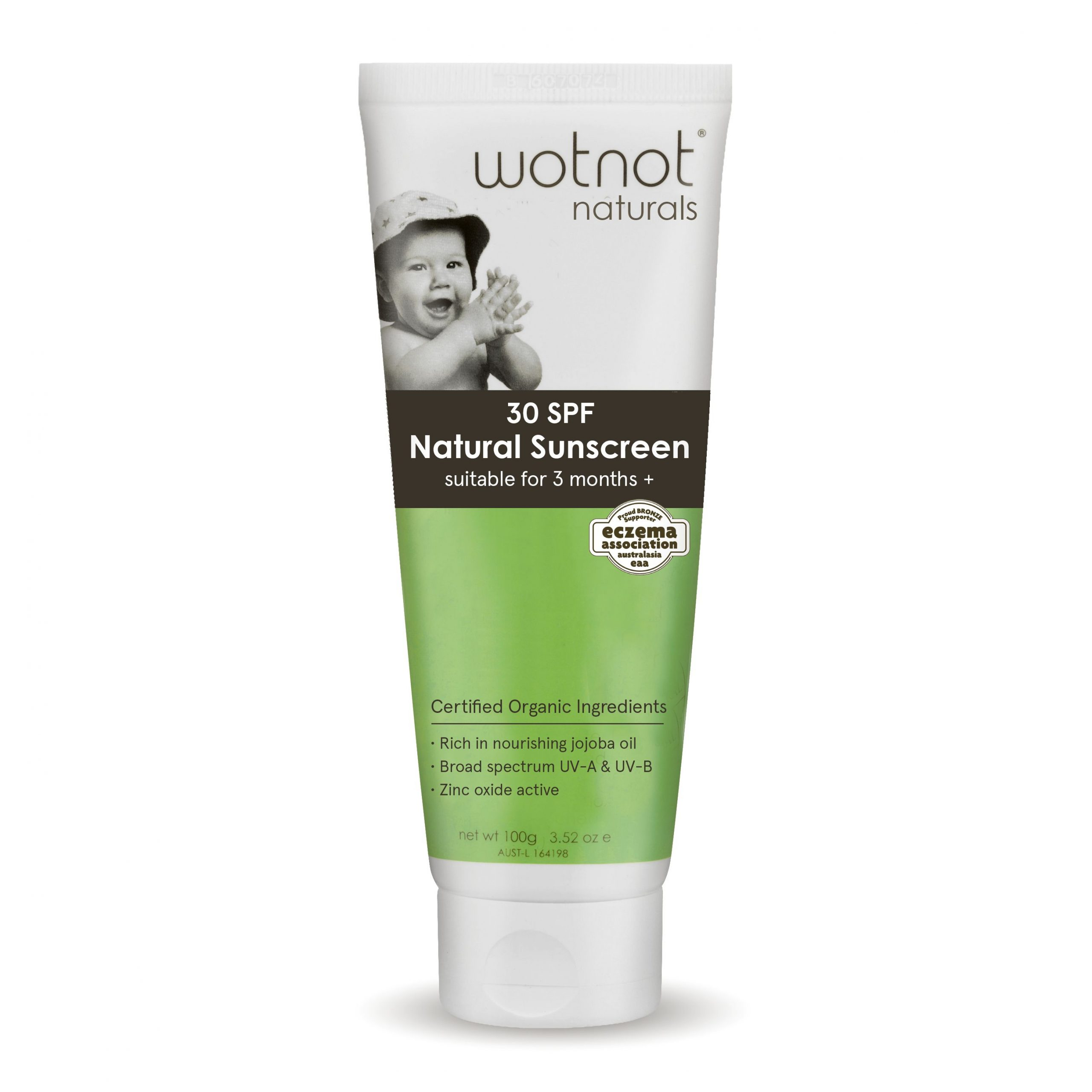 WOTNOT Baby Sunscreen SPF 30+ (100G) (Expiry Date May 2024)