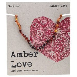 Amber Love Baltic Amber - Rainbow Love