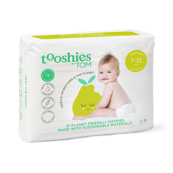 TOOSHIES BY TOM Crawler Nappies 7-12kg