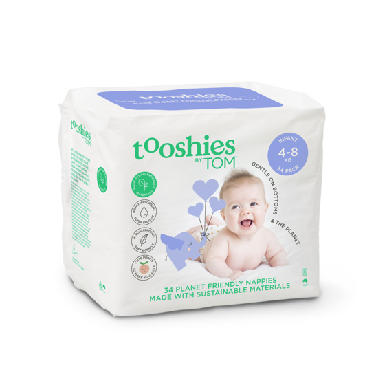 TOOSHIES BY TOM Infant Nappies 4-8 kg