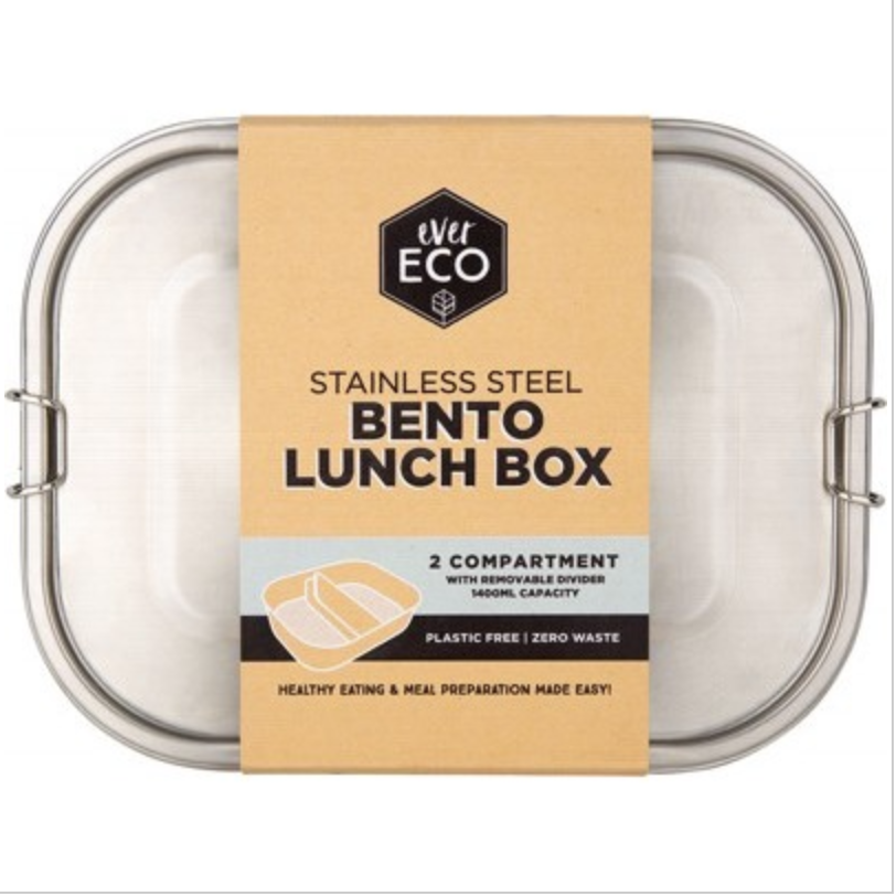 BENTO BOX 2 COMPARTMENT WITH REMOVABLE DIVIDER 1400ML